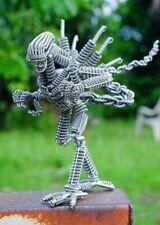 Vintage Collectibles Gift Art alien Robot Wire Toy Handmade Model Sculptures Man