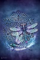 Celtic Dragonfly by Brigid Ashwood Art Print Mural Poster 36x54 inch