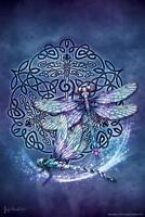 Celtic Dragonfly by Brigid Ashwood Art Print Mural Poster 36x54 inch
