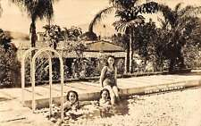 Veracruz Mexico Hotel Ruiz Galindo Pool Real Photo Antique Postcard K61643
