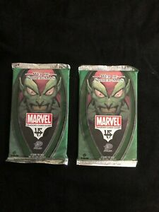 Marvel 2 Unopened Packs Web of Spider-Man Trading cards 04 VS System