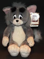 "VTG Tom & Jerry Gray Cat 10"" Plush Stuffed Animal Toy 1990 w/ Tag"