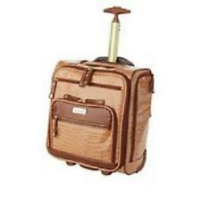 """Samantha Brown Croco Embossed 16"""" Rolling Carry-It-All Bag Caramel New W/Tags"""