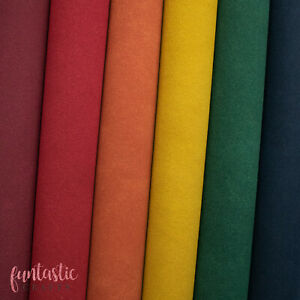 Faux Suede Leatherette Fabric for Crafts and Bows - A4 Sheets - Faux Leather