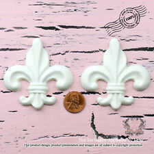 "Shabby Chic Furniture Appliques ""Not Too Shabby Fleur De Lis 02(Set of 2)"""