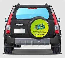 PERSONALISED Spare wheel cover decals your business details advertise 550mm