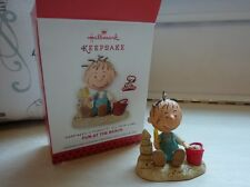 Hallmark Ornament Happiness is Peanuts All Year Long Fun at the Beach 1st Pigpen