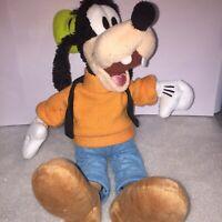 Goofy Disney Plush Soft Toy Orange Sweatshirt Black Waistcoat Big Brown Shoes