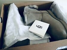 GENUINE UGG AUSTRALIA WOMEN'S MINI EMMIE BOW UGG BOOTS - GREY - UK SIZE 6 - BNIB