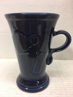 Vintage Fiesta Cobalt Blue Pedestal Mug with Handle