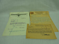 Erie Railroad Ephemera Lot Youngstown Ohio Employee Benifits Fire Telegraph 3pcs