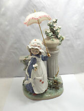 Lladro Figurine #5284 Glorious Spring, Girl w/ Bird Holding Umbrella, with box