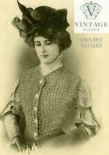 Vintage Crochet pattern-How to make a stylish Victorian waistcoat jacket vest