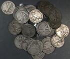 1916-1947 WALKING LIBERTY HALF DOLLARS, LOT OF 6 90% SILVER INV B481