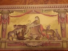 LIONS, TIGERS, AND ANIMALS IN ROYAL ROOM Wallpaper bordeR Wall