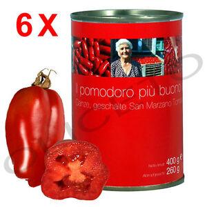 San Marzano 6 Dosen Tomaten 400/260 g ganz und geschält - il pomodoro più buono