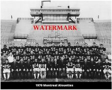 Cfl 1970 Montreal Alouettes Team Picture Autostade Black & White 8 X 10 Photo