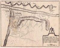 Gravure XVIIe 1695 Château de Rheinfels Burg Rheinfels Nicolas de Fer Sankt Goar