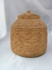 """Native American Weave Covered Bowl Very Nice Design. Approx 8"""" W X 8"""" T"""