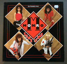 "MONRO - Some Girls 12"" Vinyl Single Record VG 1987 German Pressing Hard Rock"