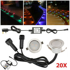 20x31mm RGB Color Changing LED Decking Lights Path Kitchen Outdoor Garden Lamp
