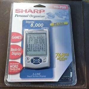 Sharp YO-P20 Handheld Personal Organizer Software and Cable Games New Sealed