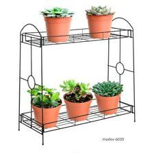2-Tier Indoor Outdoor Metal Plant Stand Rack,Decorative Flower Pot Display Shelf