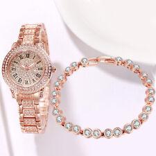 Women Men Luxury Geneva Quartz Analog Watch Stainless Steel Mesh Wrist Watch