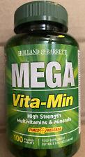 Holland & Barrett Mega Vita-Min Multivitaminas 100 Comprimidos recubiertos de alta resistencia