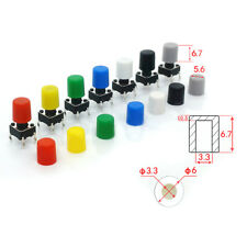 Tactile Switch Cap White Red Green Blue Yellow Gray Black Round for Button