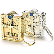 1*Mini Holy Bible Miniature Paper Spiritual Christian Jesus Keychain Keyring TOP