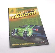 Juiced manuale istruzioni XBOX first edition microsoft