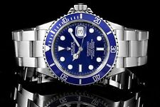 Rolex Stainless Steel Submariner 16610 with Blue Dial on an Oyster Bracelet