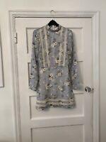 BNWT Missguided Blue Floral Tea Dress Size 8