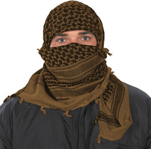 Camcon Shemagh Desert Headwear Eye Protection Cotton Coyote Black Scarf 61033