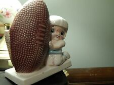 "INARCO [E-247] Japan Ceramic Pottery ""Junior Varsity Football"" Vtg PLANTER~POT"