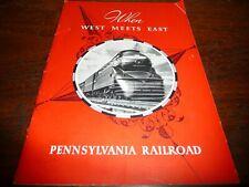"Pennsylvania Railroad Golden Gate Expo Brochure ""When West Meets East"" 8 pp-1939"