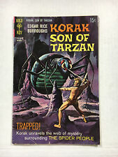 Korak Son of Tarzan #25  F+ Gold key comic 1968 Painted cover