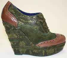 Women's Shoes Poetic Licence WILD SAFARI Oxford Platform Wedge Pump Green 7/ 7.5