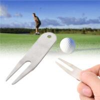 Golf Ball Marker Divot Switchblade Tool Pitch Repair Stainless Steel Golfer Kit
