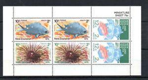 New Zealand 1979 Health, marine life, mini sheet MNH