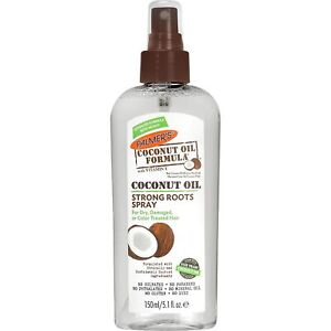 Coconut Oil Strong Roots Spray by Palmers for Unisex  5.1 oz Hair Spray