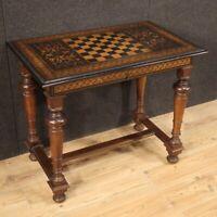 Tavolino da gioco mobile tavolo da salotto antico in legno intarsiato 800