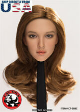 1/6 Scale Female Head Sculpt American CT008C For PHICEN Hot Toys Figure U.S.A.