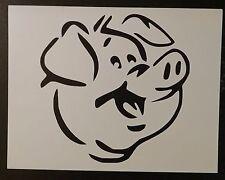 "Cute Pig Face 11"" x 8.5"" Custom Stencil FAST FREE SHIPPING"