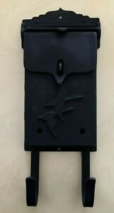 Vintage Wall Mount House Mailbox w Newspaper Hangers Lightweight Embossed Ducks