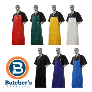 Butcher's Tpu Apron Plain Water Proof Resistant Fish Chef Restaurant Cleaning
