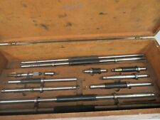 Starrett Model 128az Inside Micrometer Set 6 78 001 With Etxra Rods Nm14