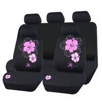 Universal Car Seat Cover Pink Fabric Side Airbag Split Rear 40/60 For Sedan SUV