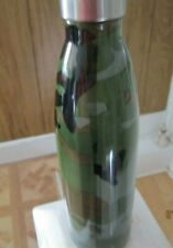 Double Wall Insulated Stainless Steel Camo Green Water Bottle, new
